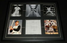 Roberto Clemente Signed Framed 1966 Document & Photo Display RR LOA Pirates
