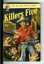KILLERS FIVE by Hopson, rare US Lion Book #65 western pulp vintage pb