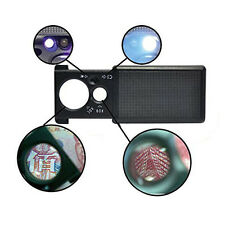 New 30X 60X LED UV Lighted Jewelers Loupe Magnifier Loop Magnifying Glass