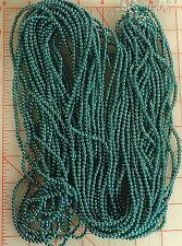 """24 strands 60"""" pearlized dark green round plastic beads 4mm pearls"""