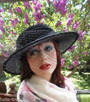 Damenhut eleganter Anlasshut Trauer Ascot Fest Hutball Damenhüte Anlasshüte