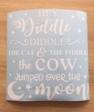 Hey Diddle Diddle The Cat & The Fiddle Decal Wall vinyl sticker Ikea Box Frame