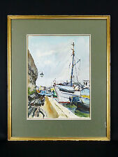 René Le FORESTIER(1903-1972) Aquarelle vue de Concarneau Bretagne Finistère Midy