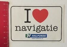 Aufkleber/Sticker: I Love Navigatie - Halfords (010616167)