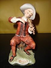 Porcelain Capodimonte by Pucci Italian Figurine Man Playing Violin VG Condition