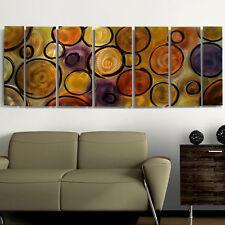 Modern Abstract Jewel Toned Metal Wall Art Decor Painting Original Jon Allen Art