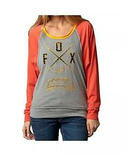 $39 Fox Racing Women's Life Line Long Sleeve T-shirt Orange Flame/Grey Size L
