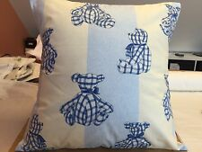 HANDMADE CUSHION IN JANE CHURCHILL BLUE CHECK BEAR