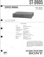 Sony Original Service Manual für ST-D 905