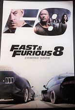 FAST & FURIOUS 8 THE FATE OF THE FURIOUS ORIG 2017 1 SHEET POSTER VIN DIESEL