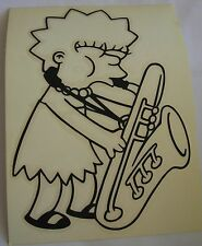 Simpsons Maggie Saxophone sticker  Licensed