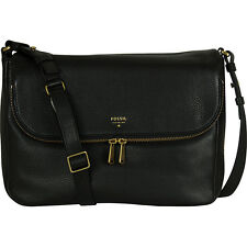 Fossil Women's Preston Flap Cross Body, Black, ZB5875001