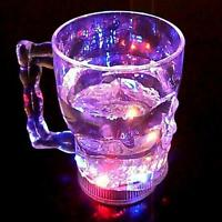 New LED Flash Light Whisky Shot Drink Glass Cup Beer Bar Party Wedding Club