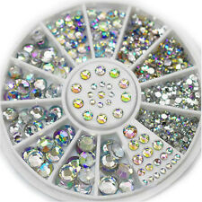 3D Acrylic Nail Art Rhinestones Tips Gems Crystal DIY Decoration Wheel Majority