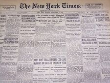 1934 SEPT 3 NEW YORK TIMES - RUSS COLOMBO FATALLY WOUNDED BY PISTOL - NT 1609