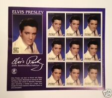 Elvis Presley 25th Anniversary Edition Antigua+Barbuda Sheet 9 Stamps  #2358