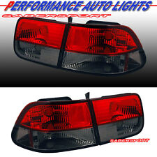 1996-2000 HONDA CIVIC 2 DOOR COUPE RED SMOKE TAIL LIGHTS 4PCS 96 97 98 99 00