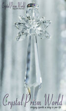 Stunning Crystal Glass Hanging Guardian Angel Tree Ornament Suncatcher