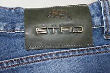 Men's Etro Milano Blue Jeans Size 30 X 29 Made in Italy