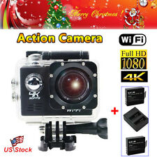 Full HD 1080P SJ8000 12MP WiFi Action Camera 30m Underwater+Dual Charger+Battery