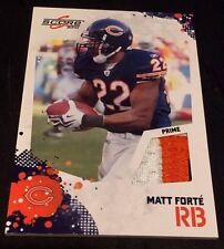 MATT FORTE 2010 Score Football 3 Color JERSEY Number PATCH Prime BEARS JETS
