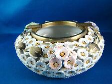 Arnart Porcelain Ashtray White & gold Flowers 1950s 2 crossed Arrows @22