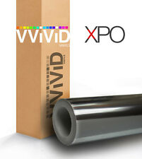 VViViD Black chrome car vinyl wrap 1ft x 5ft decal 3mil paint-protect film