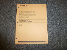 Cat Caterpillar D4H Series III 3 Track Type Tractor Operators Owners Manual