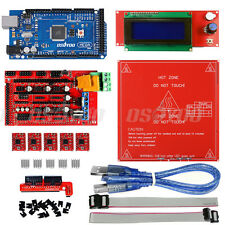 3D Printer Kit Ramps 1.4+ Mega2560 + 2004 LCD + MK2B Heatbed for Arduino Reprap