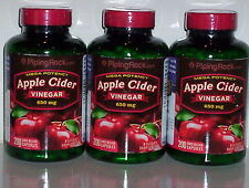 APPLE CIDER VINEGAR 650MG WEIGHT FAT LOSS PURE DIET PILLS SUPPLEMENT 600 CAPSULE