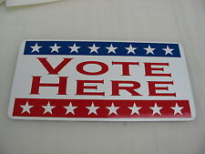 VOTE HERE Metal Sign Vintage Style USA Flag Banner American AMERICAN Made