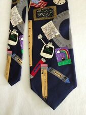 SCHOOL DAYS NECKTIE bY THE SAVE THE CHILDREN COLLECTION  #1500