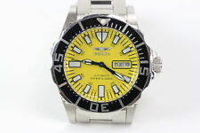 INVICTA – 3035 MEN'S YELLOW DIAL AUTOMATIC DIVER'S DATE DAY WATCH 40MM