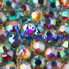 200pcs Crystal AB 8mm ss40 Flat Back Resin Rhinestones Embellishments Craft Gems