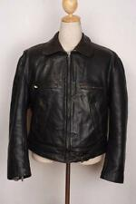 Vtg 1950s GERMAN Leather Motorcycle Sports Jacket Large