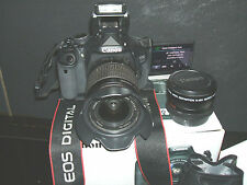 Canon EOS 600D /KISS18.0 MP Digital SLR Camera -(Kit w/THREE LENSES EF-S IS..