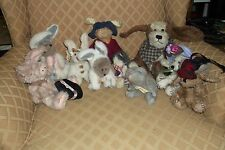 Boyds Bears Lot of 10, Variety of Boyd's Bunnies/Dog/Cat/Pig/Mouse    Lot #3