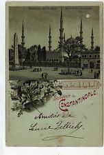 1899 Constantinople Istambul - gruss mosquée du sultan Ahmed - mosqueee islam