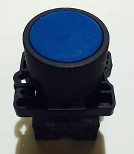 22mm MOMENTARY pushbutton Switch BLUE 10A NC & NO Contacts 600v Max