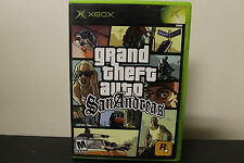 Grand Theft Auto: San Andreas  (Xbox, 2005) *Tested/Black Label