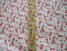 Lightweight cotton fabric apparel doll dress clothes small calico rose half yard