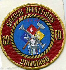 """Castle Rock  Special Operations Command  (4"""" round size)  fire patch"""