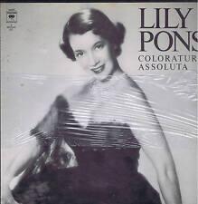 LILY PONS coloratura assoluta Donizetti Delibes Verdi ..3 LP box COLUMBIA sealed