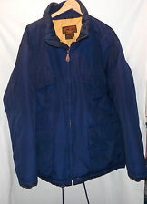 MEN'S EDDIE BAUER BLUE PREMIUM GOOSE DOWN FULL ZIP COAT LARGE EUC