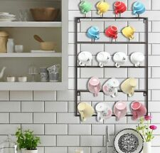 Wall Mount Hook Rack Holder Mug Storage Organizer Display Drying Dinnerware New