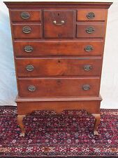 QUEEN ANNE PERIOD CHEST ON FRAME HIGHBOY WITH STOCKING FEET YORK COUNTY PA