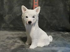 Chinese Crested Plaster Dog Statue Hand Cast And Painted By T.C. Schoch