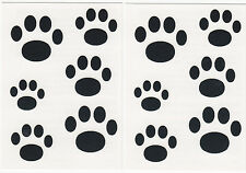 PAWS, BLACK - 12  Pieces-Temporary Tattoos/Dogs, Animals,,Party favors, Sports