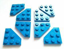 Lego x8 New Blue Wedge Plate Cut Corner 3x3