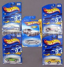 Hot Wheels 5 Car Lot Hippie Mobiles Series Corvette GTO Old #3 DeLorean DMC-12